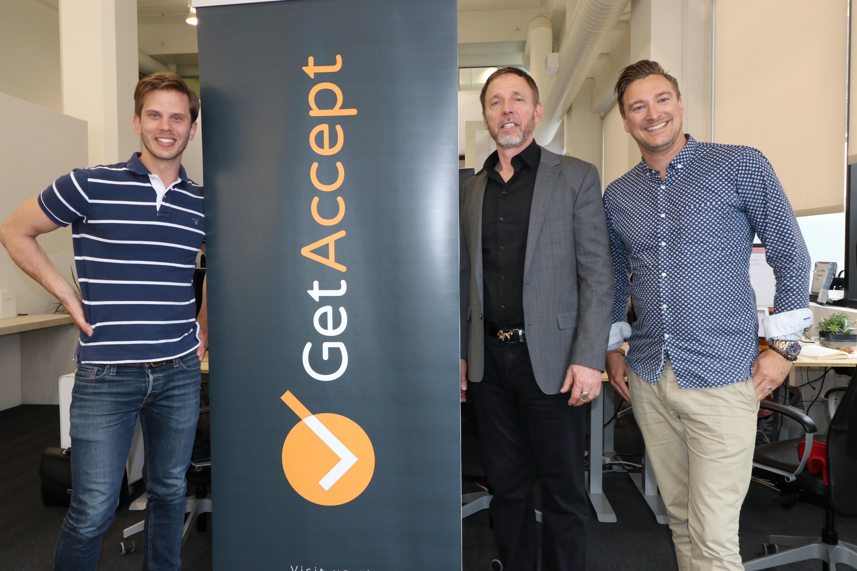 Chris Voss, Samir Smajic, Mathias Thulin at GetAccept